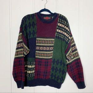 Vintage Chunky Knit Crewneck Grandpa Sweater